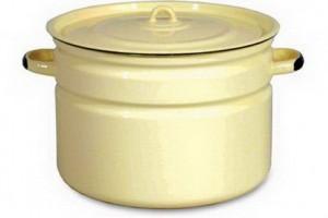 эмалированная кастрюля для домашнего пивоварения 30л