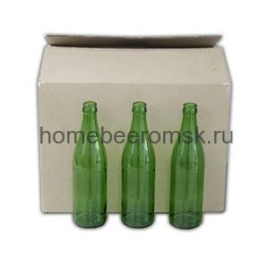 Бутылка зеленая 0,5 л, 20 шт