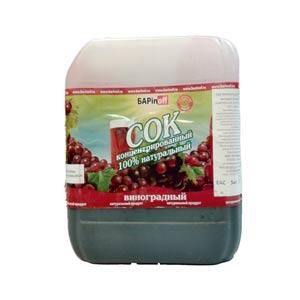 Сок Красный Виноград, концентрированный, 5 кг
